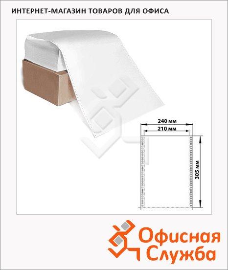 Перфорированная бумага Стандарт 240х305мм, белизна 96%CIE, 1600шт, с неотрывной перфорацией
