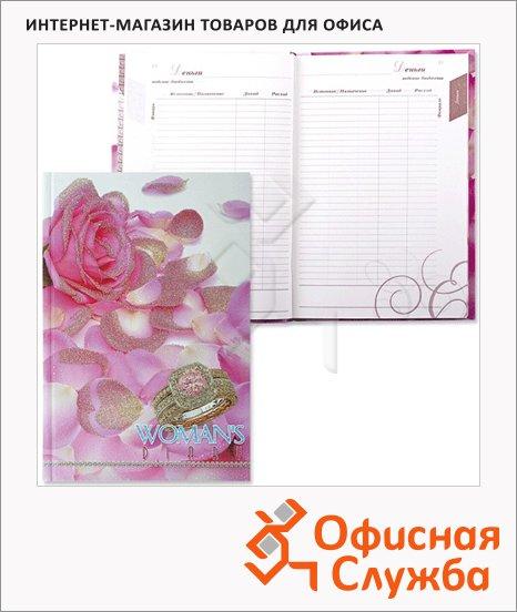 Ежедневник женщины недатированный Plano розовый бриллиант, А5, 144 листа