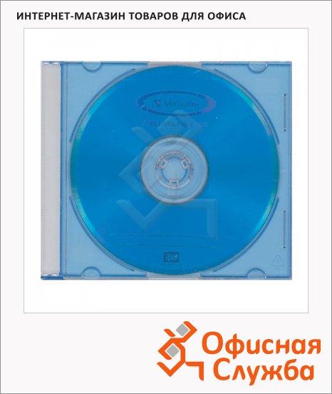 Диск DVD+RW Verbatim 4.7Gb, 4х, Slim Case, 1шт/уп