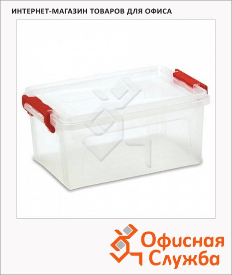 Бокс для хранения Floortex 24х48.4х32см, прозрачный, 25л