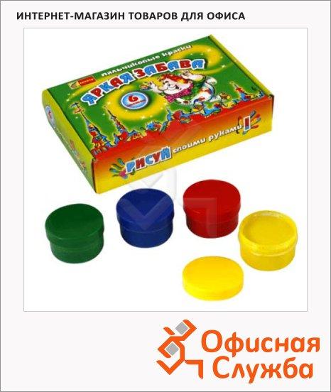 Краски пальчиковые Спектр Яркая забава 6 цветов х 60мл