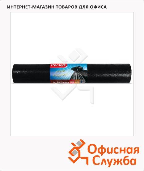 Мешки для мусора Paclan Big&Strong 240л, черные, 40мкм, 20шт/уп
