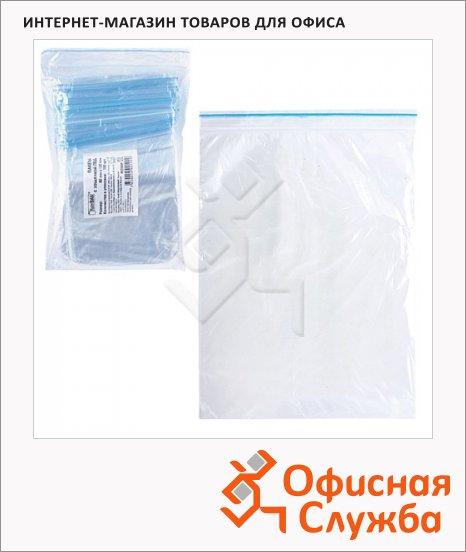 Пакеты с замком Zip Lock гриппер 8х12см, 32мкм, 100 шт/уп
