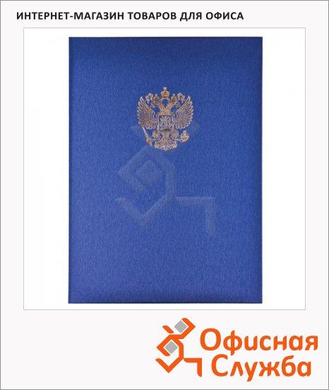 фото: Папка адресная Государственная символика синяя А4, картон