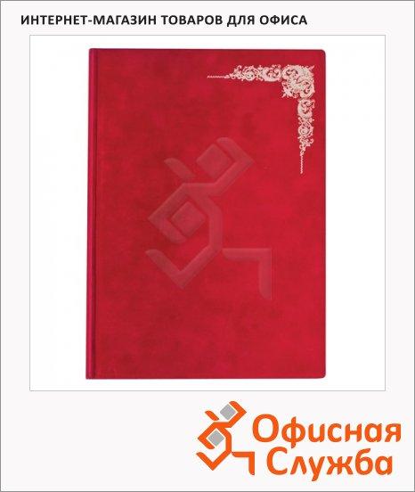 фото: Папка адресная Виньетка красная А4, картон