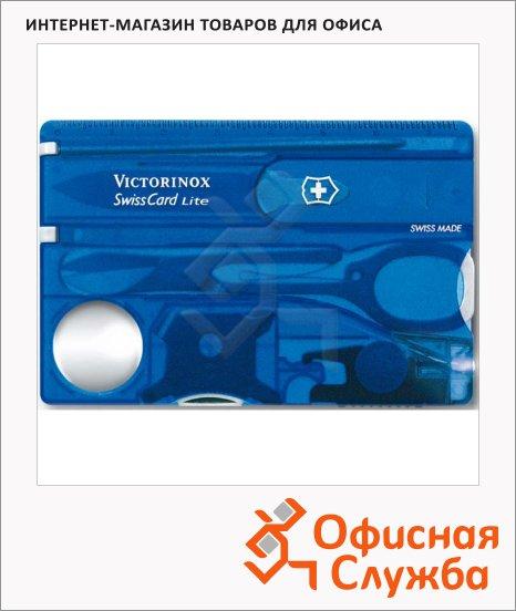Швейцарская карта Victorinox SwissCard Lite 0.7322.T2, 13 функций, синяя