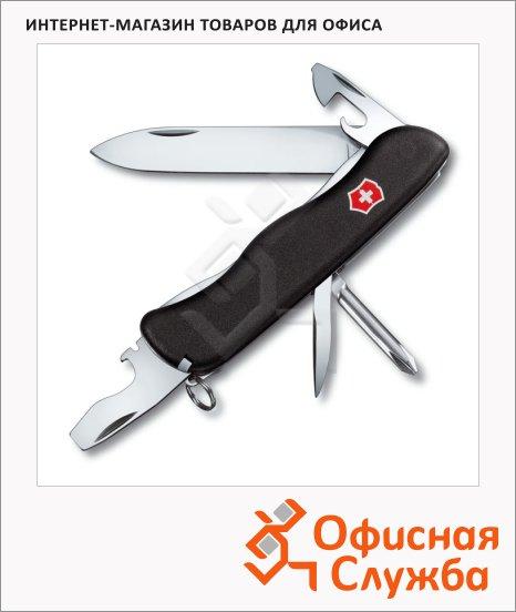 фото: Нож для спецслужб 111мм Victorinox Centurion 0.8453.3 11 функций, 2 уровня, черный, с фиксатором