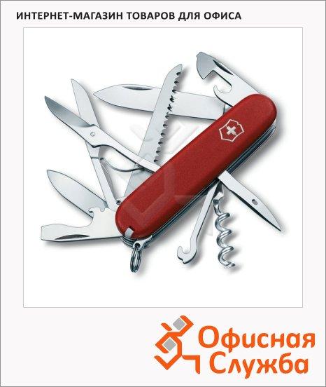 Нож офицерский 91мм Victorinox Ecoline 3.3713, 15 функций, 4 уровня, красный