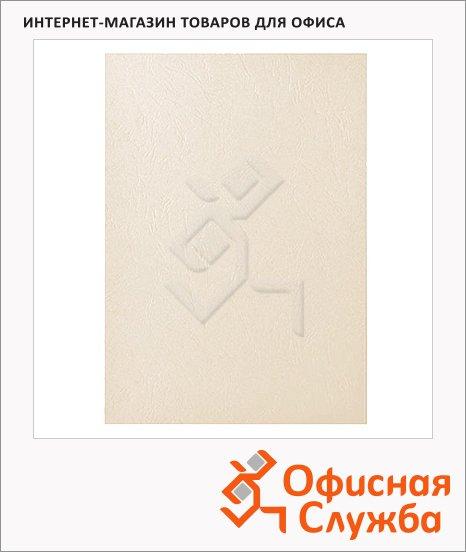 фото: Обложки для переплета картонные Fellowes Chromo слоновая кость А4, 270 г/кв.м, 100шт, FS-53700