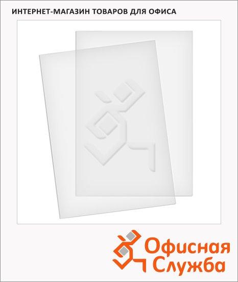 Обложки для переплета пластиковые Fellowes Transparent прозрачные, А4, 200 мкм, 100шт, FS-5376102