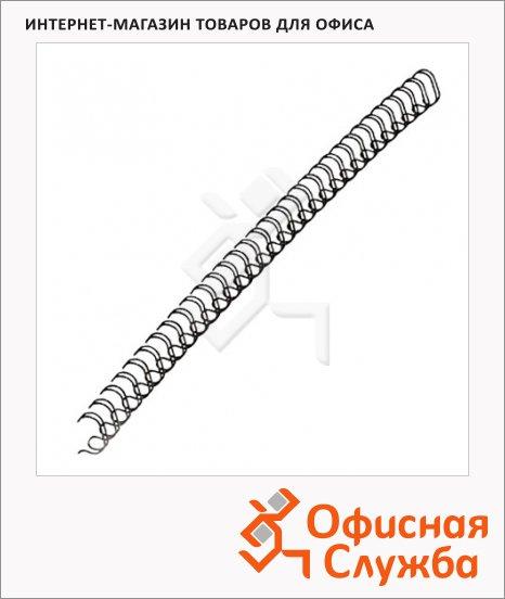 Пружины для переплета металлические Fellowes черные, на 1-30 листов, 6.4мм, 100шт, FS-53218