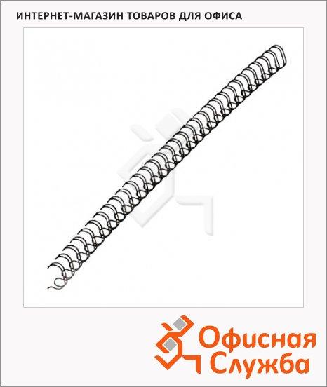 Пружины для переплета металлические Fellowes черные, на 36-50 листов, 8мм, 100шт, FS-53261