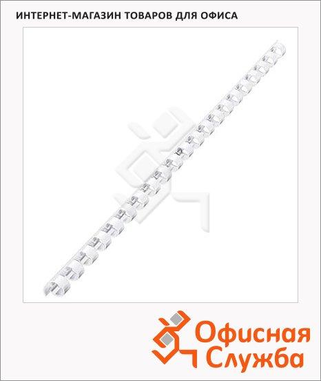 Пружины для переплета пластиковые Fellowes белые, на 60-90 листов, 12мм, 100шт, кольцо, FS-53462