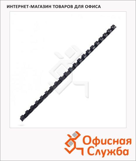 фото: Пружины для переплета пластиковые Fellowes черные на 2-30 листов, 6мм, 100шт, кольцо, FS-53453