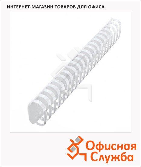 Пружины для переплета пластиковые Fellowes белые, на 310-350 листов, овал, 38мм, 50шт, FS-53494