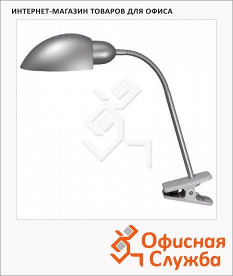 Светильник настольный Ultra Light КТ425С серебристый, на прищепке, люминесцентный