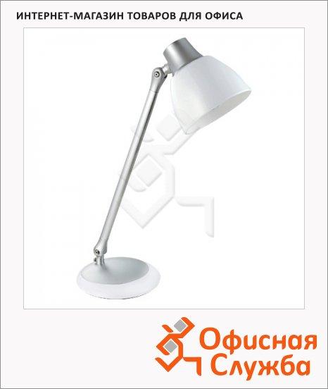 Светильник настольный Ultra Light КТ427А серебристый, на подставке, люминесцентный