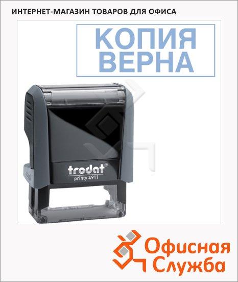 фото: Штамп стандартных слов Trodat Printy КОПИЯ ВЕРНА 38х14мм, серый, 4911
