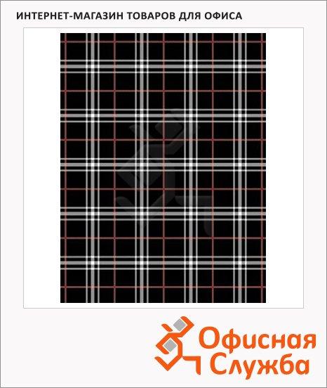 Бумага упаковочная декоративная 70х100см, черная клетка