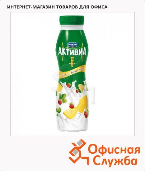 Йогурт питьевой Активиа дыня-земляника, 290г