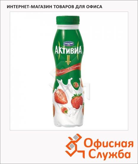 Йогурт питьевой Активиа клубника-земляника, 290г