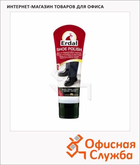 Крем для обуви Erdal для гладкой кожи, черный, 60мл