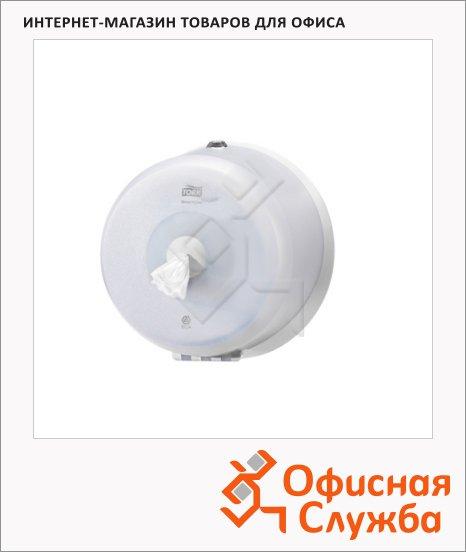 Диспенсер для туалетной бумаги в рулонах Tork Wave T9, 472026, с центральной вытяжкой, мини, белый