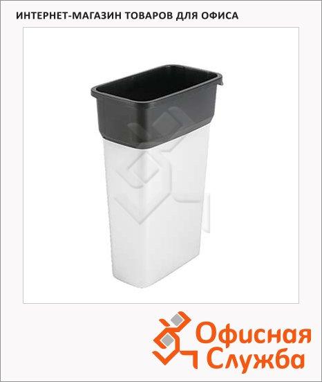 фото: Контейнер для мусора Гея 55л средний, металл/черный, 137728