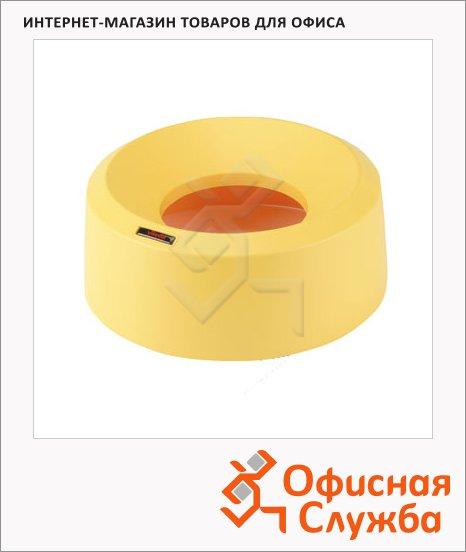 Крышка для контейнера Vileda Pro Ирис 50л, воронкообразная, круглая, желтая, 137740