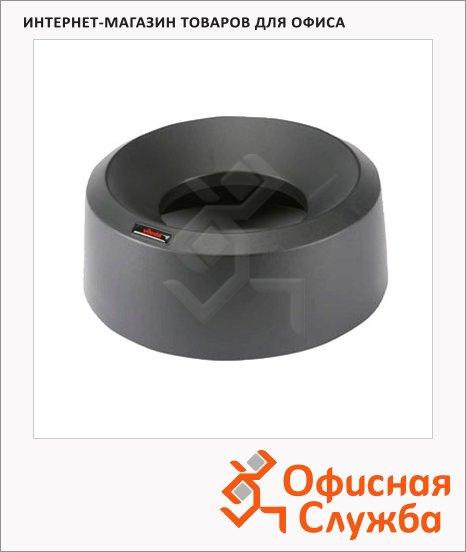 фото: Крышка для контейнера Vileda Pro Ирис 50л воронкообразная, круглая, черная, 137736