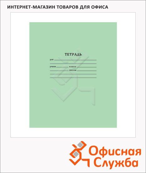 фото: Тетрадь школьная Мировые Тетради зеленая А5, на скрепке, бумага, 18 листов, в клетку