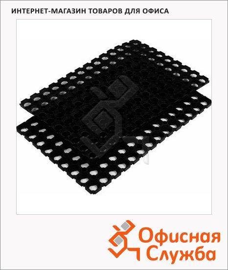 Коврик придверный резиновый, 22мм, черный, 50х80см