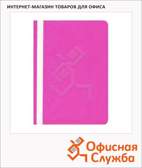 фото: Скоросшиватель пластиковый Бюрократ розовый А4, PS20PINK