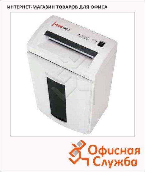 Офисный шредер Hsm 105.3-3.9, 18 листов, 33 литра, 2 уровень секретности