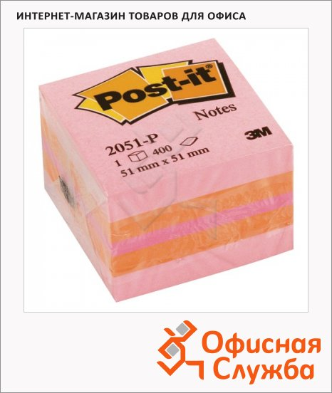фото: Блок для записей с клейким краем Classic 51х51мм, 400 листов