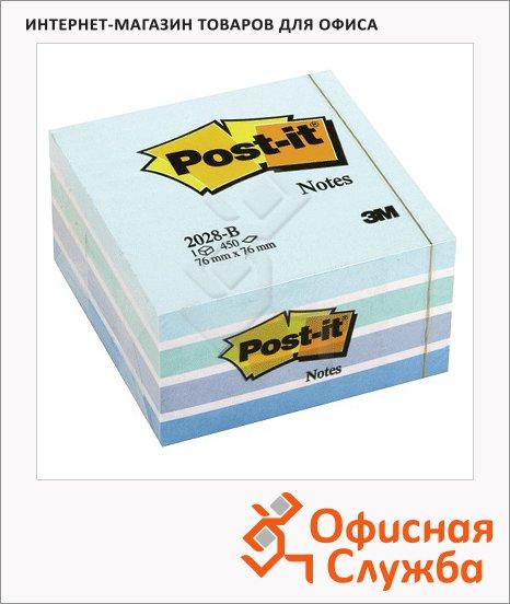 фото: Блок для записей с клейким краем Classic пастельный, 76х76мм, 450 листов