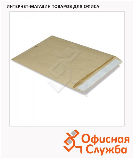 Пакет почтовый бумажный плоский Pigna B4 крафт, 250х353мм, 100г/м2, 1шт, стрип