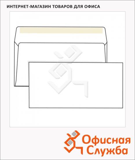 фото: Конверт почтовый Курт Е65 белый 110х220мм, 80г/м2, 50шт, декстрин