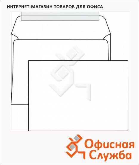 Конверт почтовый Курт С4 белый, 229х324мм, 100г/м2, 50шт, стрип
