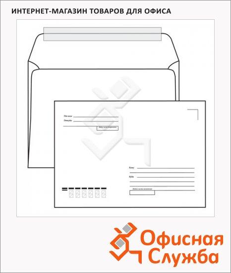 Конверт почтовый Родион Принт С5 белый, 162х229мм, 80г/м2, 1000шт, стрип, Куда-Кому