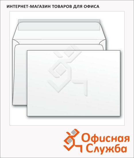 Конверт почтовый Курт С6 белый, 114х162мм, 80г/м2, стрип, 50шт
