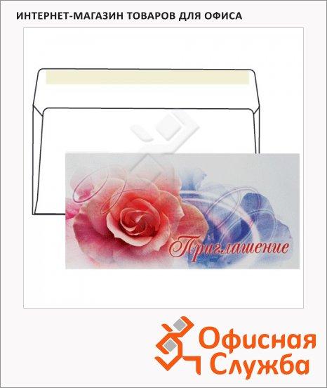 фото: Конверт почтовый С6/С5 цветочный принт 114х229 мм, 80г/м2, стрип