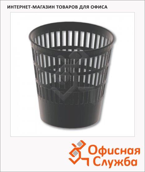 фото: Корзина для бумаг Brauberg Maxi 16л сетчатая, черная, 231165