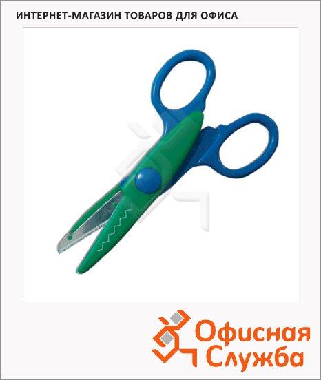 Ножницы детские Пифагор 13.5см, ассорти,фигурное лезвие