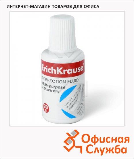 Корректирующая жидкость Erich Krause 20мл, с губкой, быстросохнущая, 13812