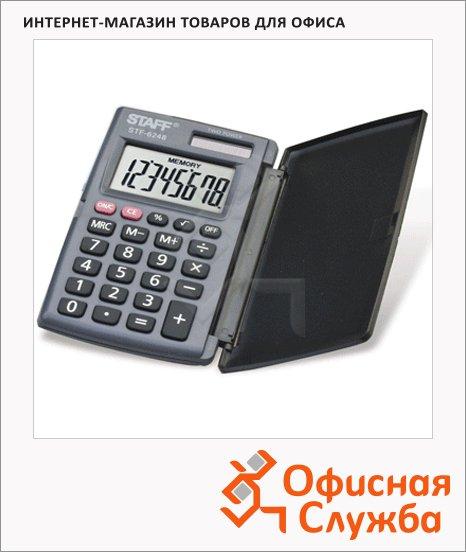 Калькулятор карманный Staff STF-62 серый, 8 разрядов