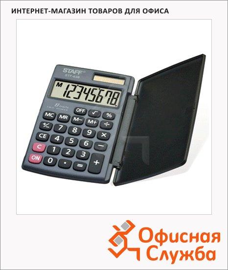 Калькулятор карманный Staff STF-638 черный, 8 разрядов