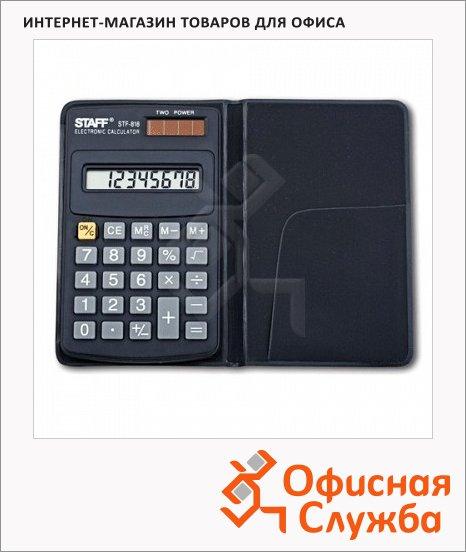 фото: Калькулятор карманный Staff STF-818 черный 8 разрядов
