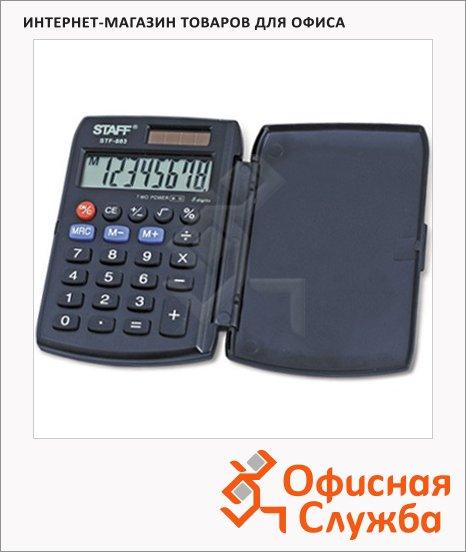 фото: Калькулятор карманный Staff STF-883 черный 8 разрядов