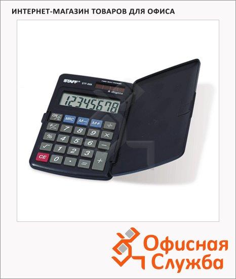 Калькулятор карманный Staff STF-899 черный, 8 разрядов